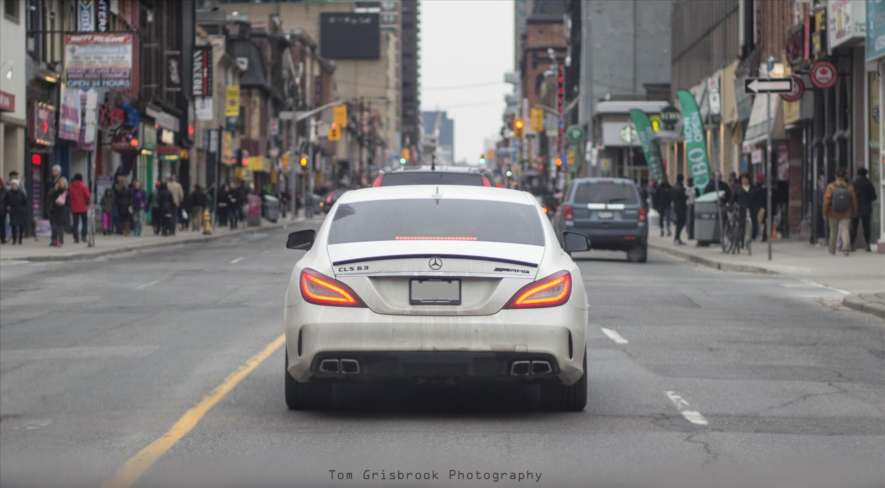 Downtown Toronto and a CLS63 AMG